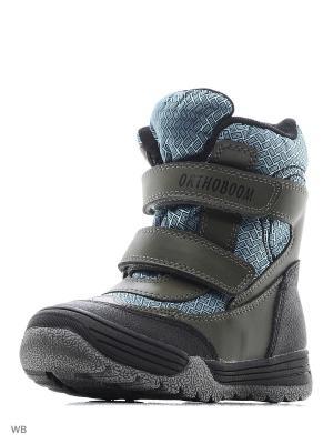 Ботинки ортопедические ORTHOBOOM. Цвет: хаки, оливковый