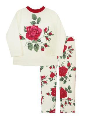 Пижама КОТМАРКОТ. Цвет: зеленый, красный, кремовый
