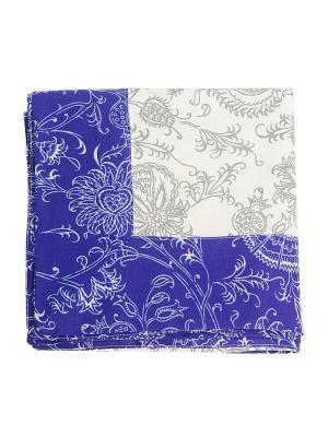 Скатерти квадратные с лопухами Лоскутклаб. Цвет: синий, белый