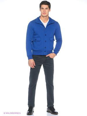 Куртка трикотажная Пряник. Цвет: синий