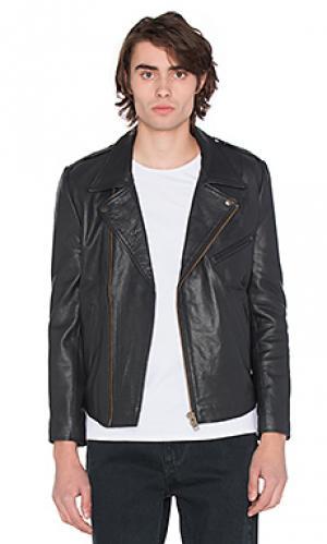 Кожаная куртка dagger ROLLAS ROLLA'S. Цвет: черный