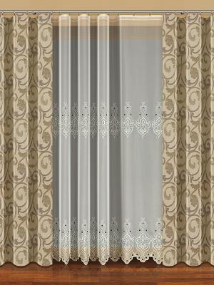 Комплект штор Haft. Цвет: бежевый, белый
