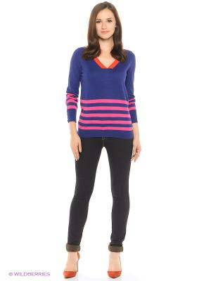 Пуловер United Colors of Benetton. Цвет: синий, розовый