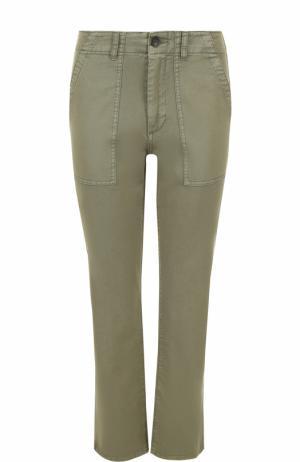 Укороченные брюки прямого кроя Ag. Цвет: хаки