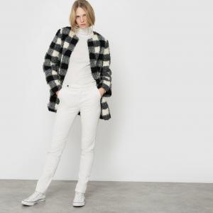 Пальто из искусственного меха. La Redoute Collections. Цвет: в клетку