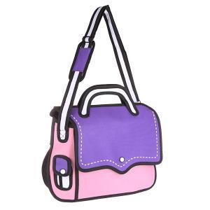 Сумка через плечо  2D Simple Business Purple/Pink/Black Jump from paper. Цвет: фиолетовый,розовый,черный
