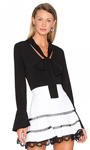 Блузка diana Alexis. Цвет: черный