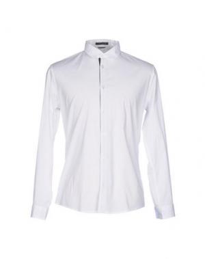 Pубашка DANIELE ALESSANDRINI HOMME. Цвет: белый