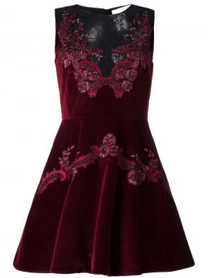 Платье с кружевными вставками Zuhair Murad. Цвет: none
