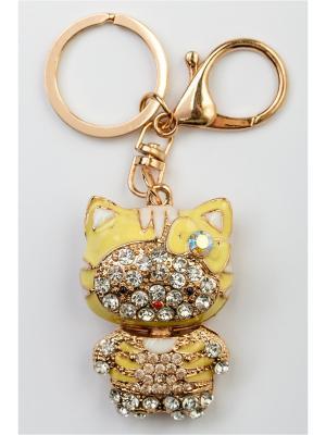 Брелок для сумки и ключей Fransua Ardy. Цвет: горчичный, желтый, золотистый
