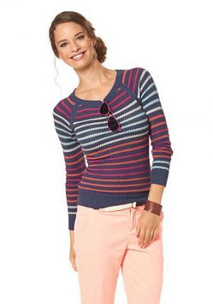 Flashlights, пуловер в полоску BOYSEN'S. Цвет: разноцветный