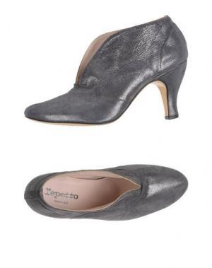 Полусапоги и высокие ботинки REPETTO. Цвет: серый