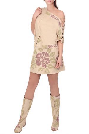 Блуза JUNONA. Цвет: бежевый