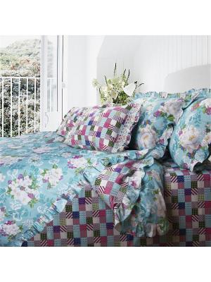 Комплект постельного белья MonaLiza&SergLook Евро Jasmine Mona Liza. Цвет: светло-зеленый, голубой, серо-голубой