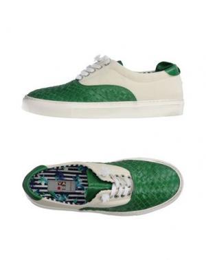 Низкие кеды и кроссовки YAB. Цвет: зеленый