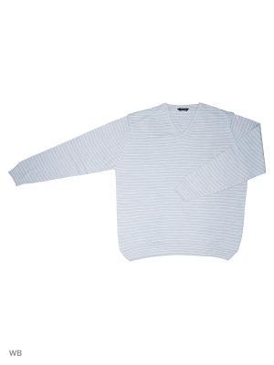 Пуловер GALS. Цвет: голубой, белый