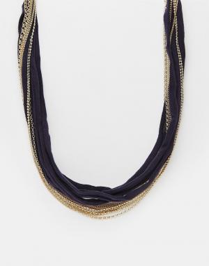 DesignB London Ожерелье с бусинами Design B. Цвет: золотой