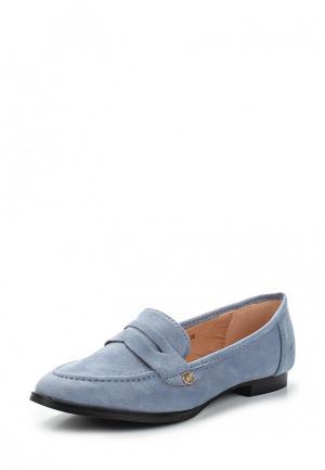 Лоферы Sweet Shoes. Цвет: голубой