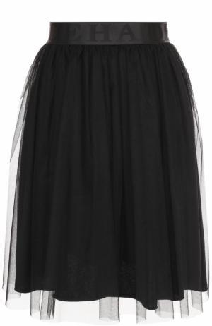 Пышная юбка-миди с эластичным поясом Deha. Цвет: черный