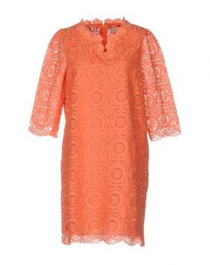 Короткое платье LOU LONDON. Цвет: оранжевый