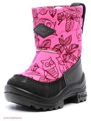 Сапоги KUOMA. Цвет: розовый, черный
