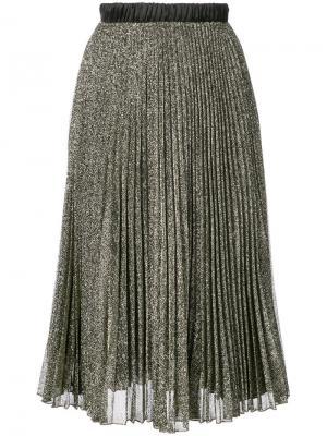 Плиссированная юбка с блестящей отделкой Loyd/Ford. Цвет: металлический