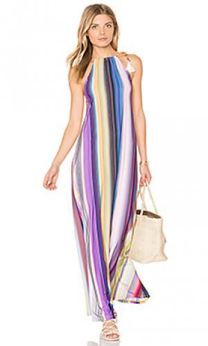 Длинное платье reign PILYQ. Цвет: синий