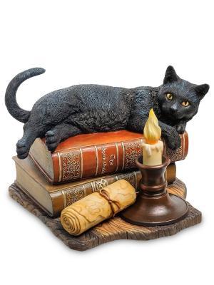 Статуэтка Кот на книгах Veronese. Цвет: бежевый, черный