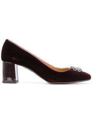 Декорированные туфли-лодочки Fratelli Rossetti. Цвет: красный