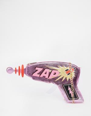 Skinnydip Сумка через плечо с принтом Zap. Цвет: розовый