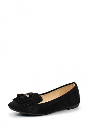 Балетки Max Shoes. Цвет: черный
