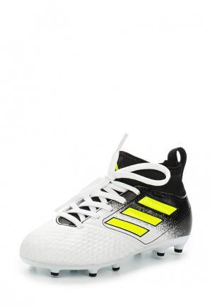 Бутсы adidas Performance. Цвет: черно-белый