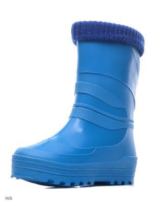 Резиновые сапоги Каури. Цвет: голубой