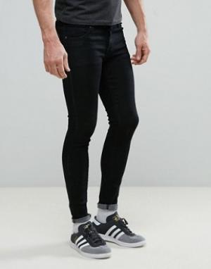 Always Rare Черные супероблегающие джинсы Mickey. Цвет: черный