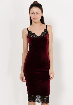 Платье Zerkala. Цвет: бордовый