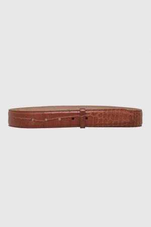 Кожаный ремень Kieselstein-Cord. Цвет: коричневый