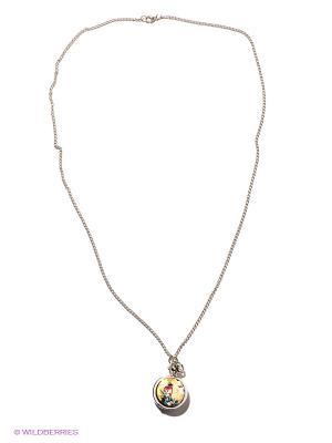 Кулон-часы Райская красная птица Mitya Veselkov. Цвет: серебристый, бежевый, синий