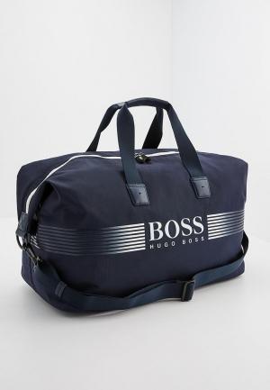 Сумка дорожная Boss Hugo. Цвет: синий