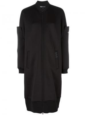 Удлиненная куртка-бомбер Y-3. Цвет: чёрный