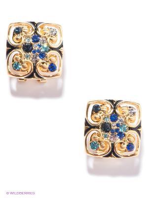 Серьги Bijoux Land. Цвет: золотистый, синий, бирюзовый