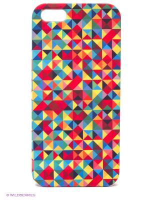 Чехол для IPhone 5 Мозаика Mitya Veselkov. Цвет: зеленый, красный, желтый, фиолетовый