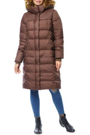 Пальто D`imma. Цвет: коричневый