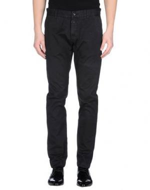 Повседневные брюки CLOSED. Цвет: стальной серый