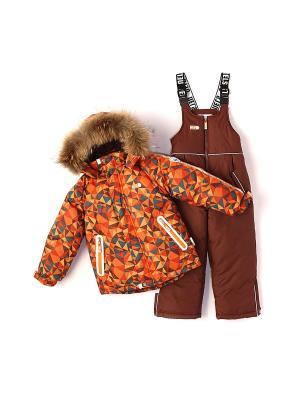 Комплект одежды NELS. Цвет: рыжий