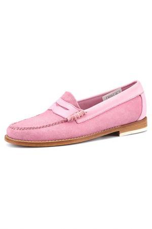 Мокасины G.H. BASS. Цвет: розовый