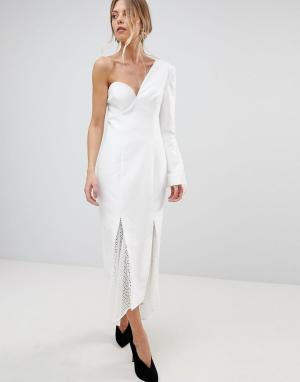 C/meo Collective Платье на одно плечо Aspire. Цвет: белый
