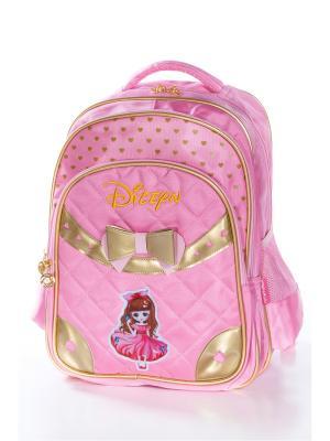 Рюкзак Vittorio Richi. Цвет: розовый, золотистый