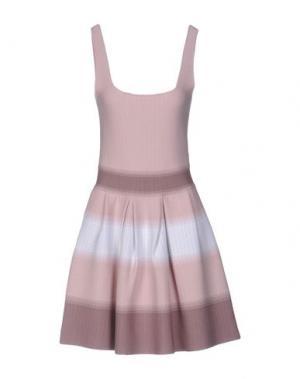 Короткое платье VICEDOMINI. Цвет: розовый