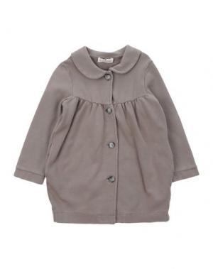 Легкое пальто LE PETIT COCO. Цвет: голубиный серый