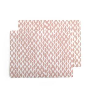 2 подложки под столовые приборы с рисунком IRMIA La Redoute Interieurs. Цвет: рисунок светло-розовый